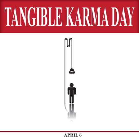 Mirror karmic reflection. Banner for Tangible Karma Day
