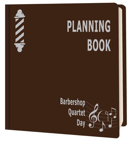Book planning for the date Barbershop Quartet Day Ilustrace