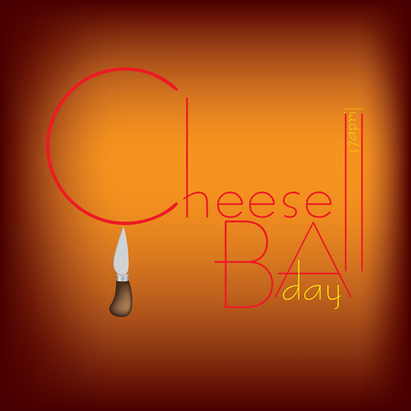 Poster for the April event - CheeseBall Day
