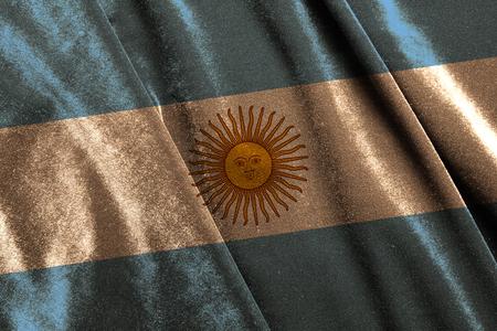 The national flag of Argentina on velvet fabric Reklamní fotografie