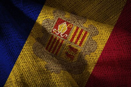 The state flag of coarse fabric Andorra