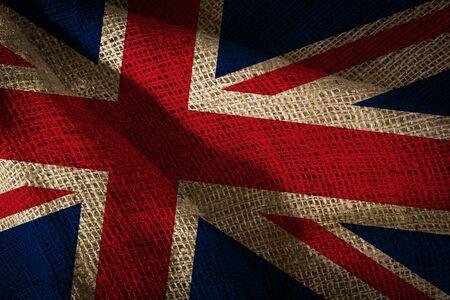 The state flag of coarse fabric United Kingdom