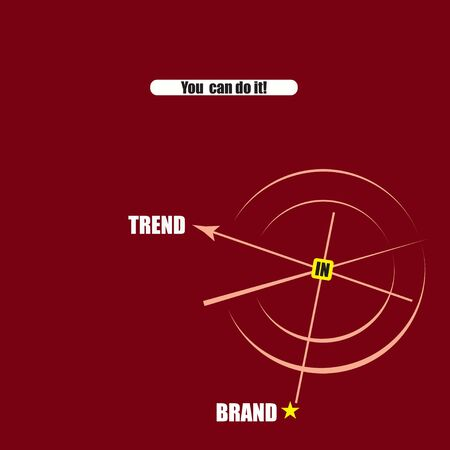 Banner on the brand in the trend 일러스트