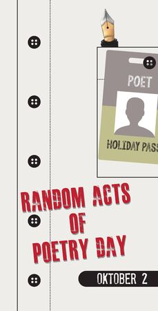 Holiday Pass for Poet Random Acts of Poetry Day Foto de archivo - 133029120
