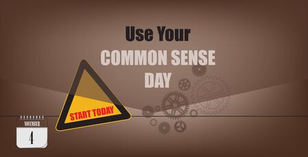Post card for event november day Use Your Common Sense Day  イラスト・ベクター素材