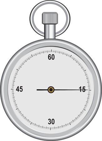 A mechanical sports stopwatch for time control. Vector illustration.