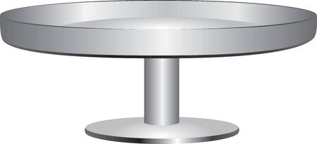 Classic cake stand with anti-slip edge. Vector illustration