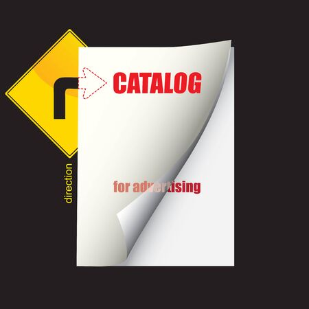Catalog template for publications in the catalog option for advertising. Ilustracja
