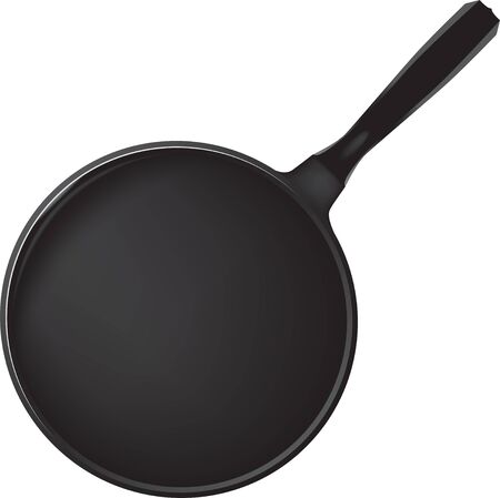 Modern pan with non-stick coating for culinary use Ilustrace