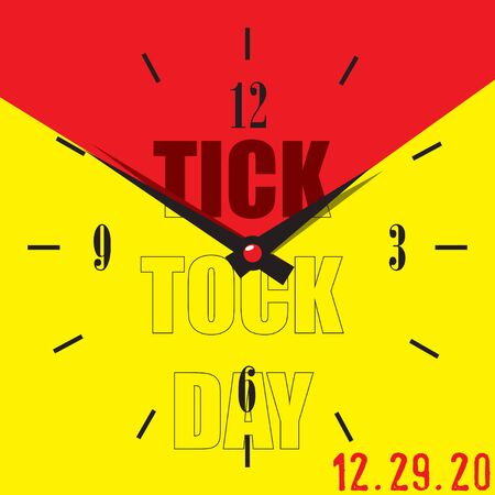 December 29 is Tick Tock Day. Dial for the date Tick Tock Day Illustration