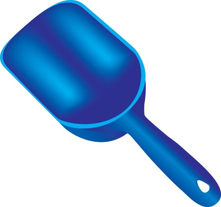 Plastic kitchen measuring spoon for bulk materials Ilustração