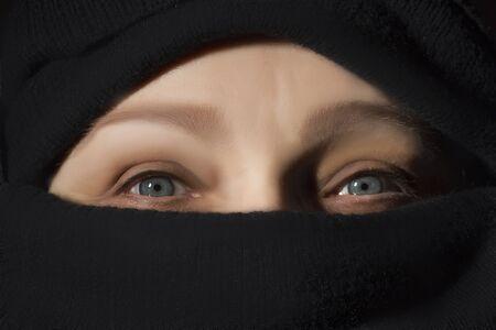 Close up of muslim woman in hijab