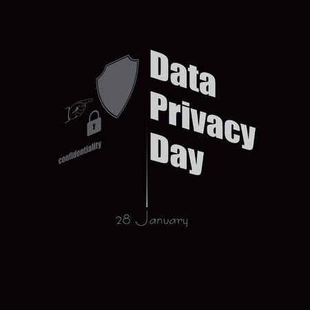 Banner for data privacy day. Vector illustration Illustration