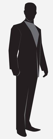 Man in a businessman suit standing full length