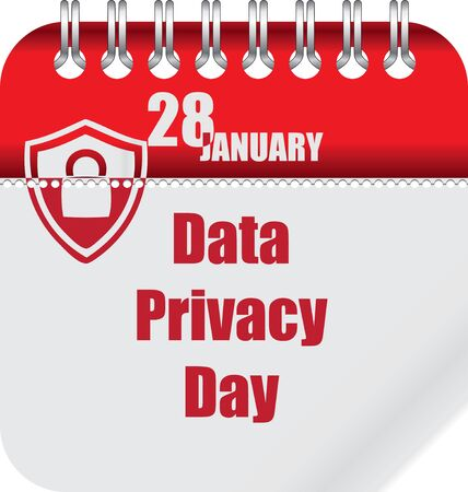 Calendar for Data Privacy Day - january event Illusztráció