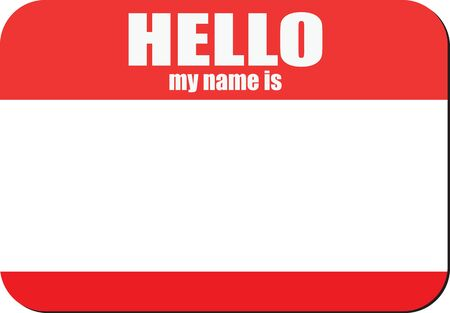 Label for identification - my name is. Vector illustration.