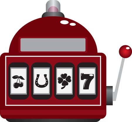 Slot machine scoreboard in casino with character set 向量圖像
