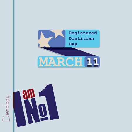 The poster for the March date - Registered Dietitian Day. Dietetics - I am Number One