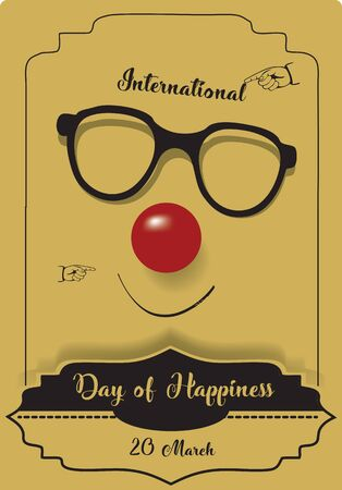 Fun retro card for International Day of Happiness