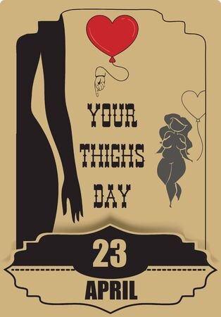 For congratulations for Love Your Thighs Day