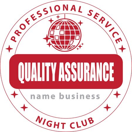 Ink stamp night club. Professional service - quality assurance