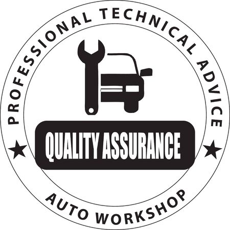 Stamp print Auto Workshop. Professional technical advice - quality assurance