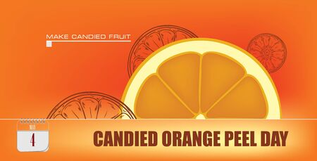 Post card for event may day Candied Orange Peel Day 일러스트