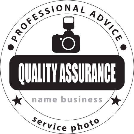 Stamp print Service photo. Professional advice - quality assurance