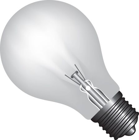 A classic light bulb with a base, not energy-saving.