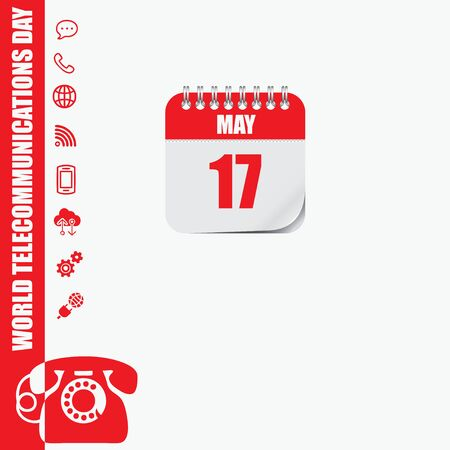 Calendar Event World Telecommunications Day, holidays and events in may Ilustracja