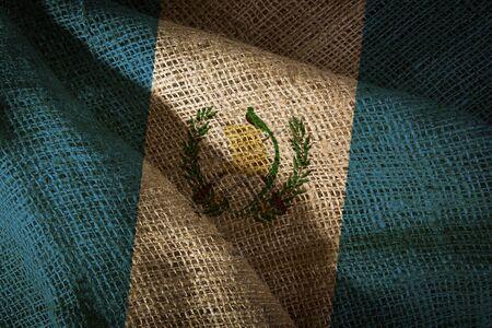 The state flag of coarse fabric Guatemala