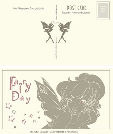 Use of postcards in advertising - Old postcard for Fairy Day