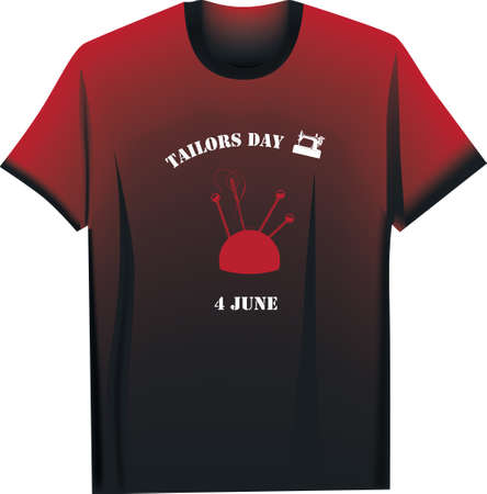 T-shirt for event 4 june - Tailors Day, designer t-shirt Ilustração