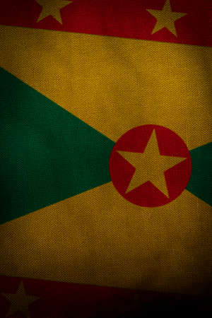 The central part of the flag of the state of Grenada Foto de archivo