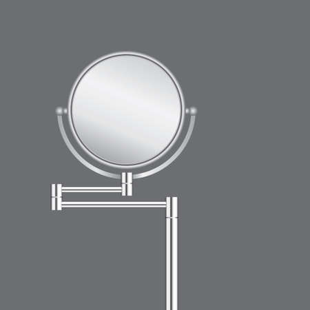 Floor circular swivel mirror with two mirror surfaces Vettoriali