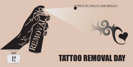 Post card for event august day Tattoo Removal Day
