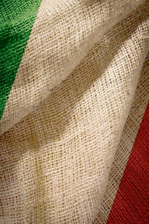 The state flag of coarse fabric Italy