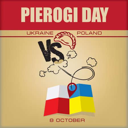 Poster for Pierogi Day - National cuisine of Ukraine and Poland, leader in dumplings