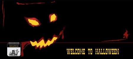 Post card for event halloween. Vector illustration Illustration