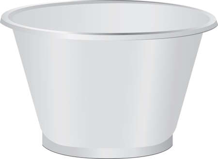 Small plastic cup for single use. Vector illustration.