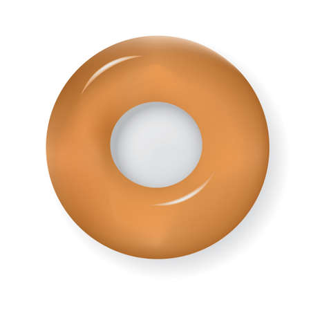 Classic bagel without sweet coating. Vector illustration.