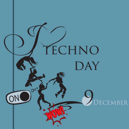 I am number one who loves techno day