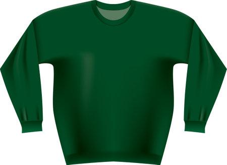 Classic sweater blank for Christmas creativity. Vector illustration.
