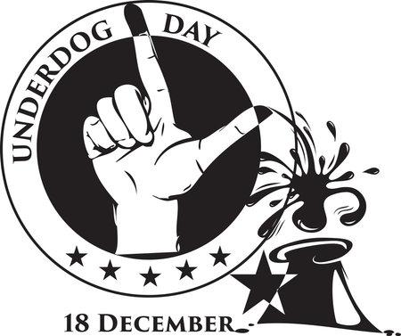 Date in December Underdog Day. Vector illustration.