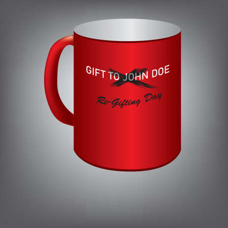 A gift cup to an unknown person that needs to be presented to another person.
