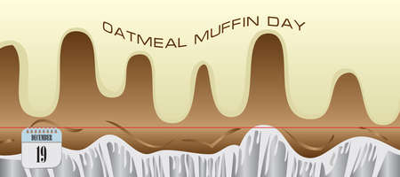 Post card for event december day Oatmeal Muffin Day