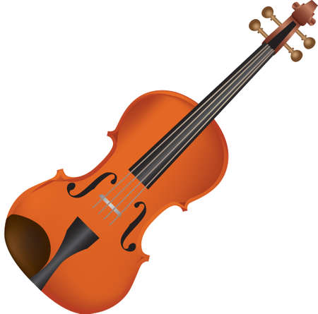 Classical wooden violin for performing musical works