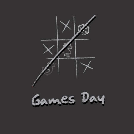 Games Day poster. The event is celebrated in December. 向量圖像