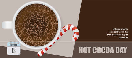Post card for event december day Hot Cocoa Day