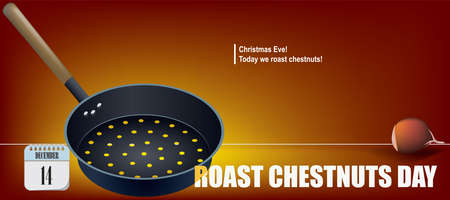 Post card for event december day Roast Chestnuts Day